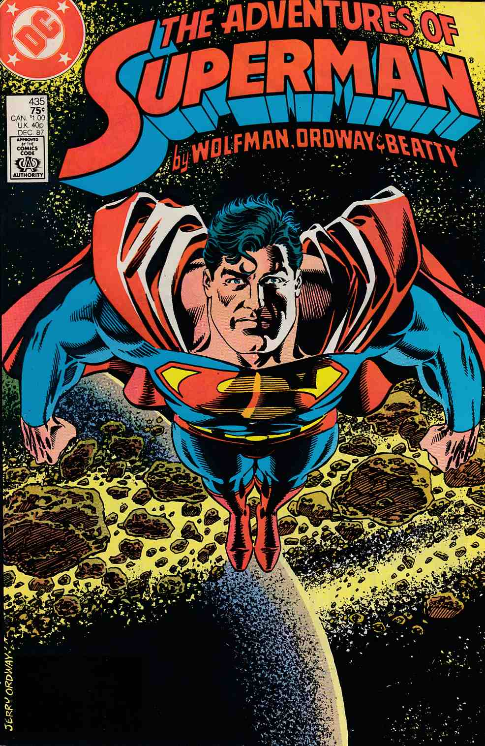 Adventures of Superman #435 Near Mint Minus (9.2) [DC Comic]_LARGE