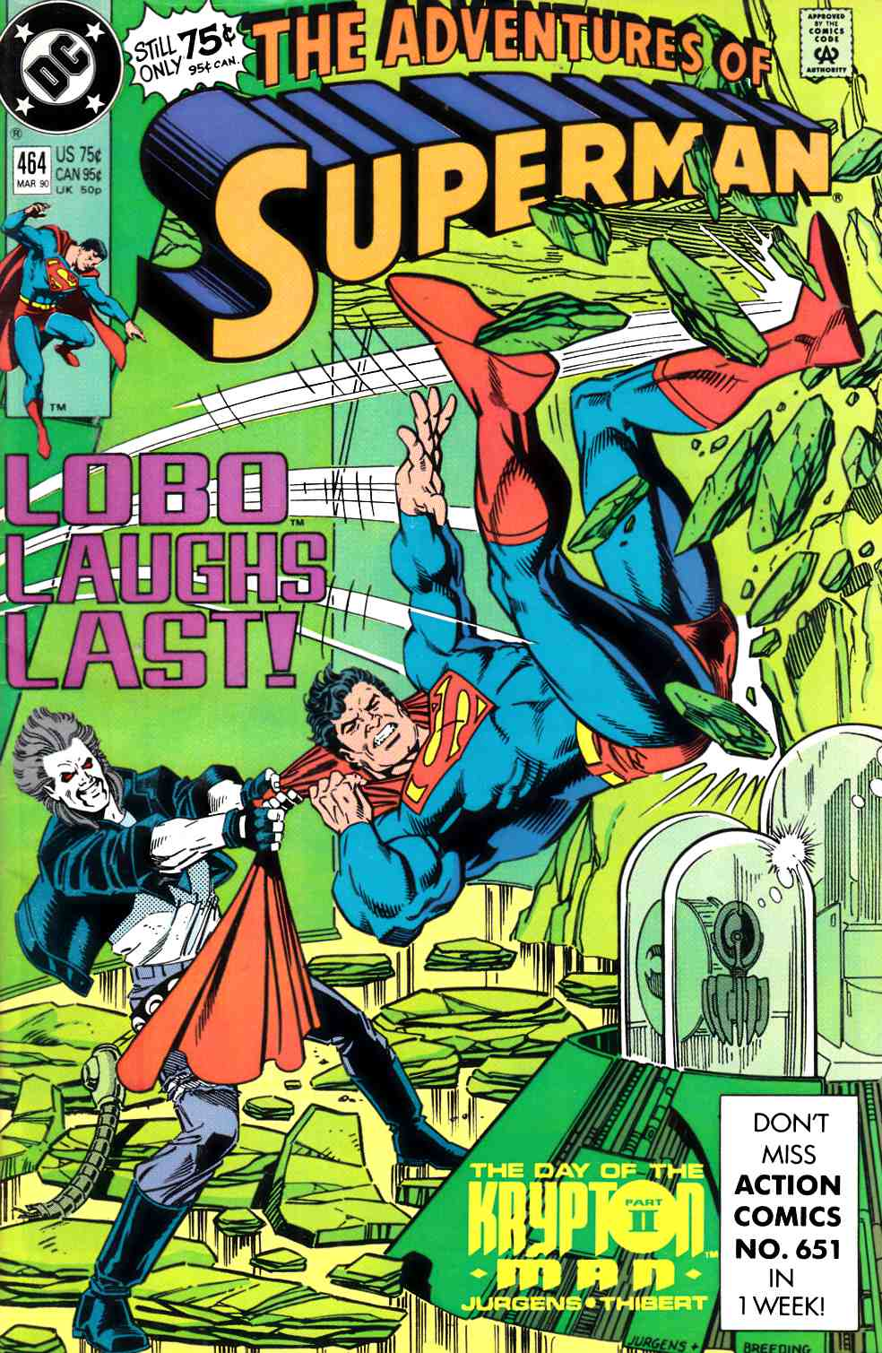 Adventures of Superman #464 Fine (6.0) [DC Comic] THUMBNAIL