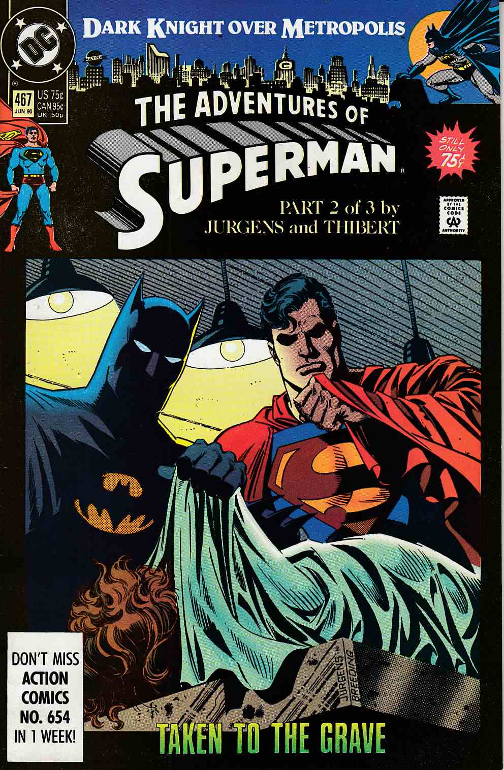 Adventures of Superman #467 Very Fine (8.0) [DC Comic] LARGE