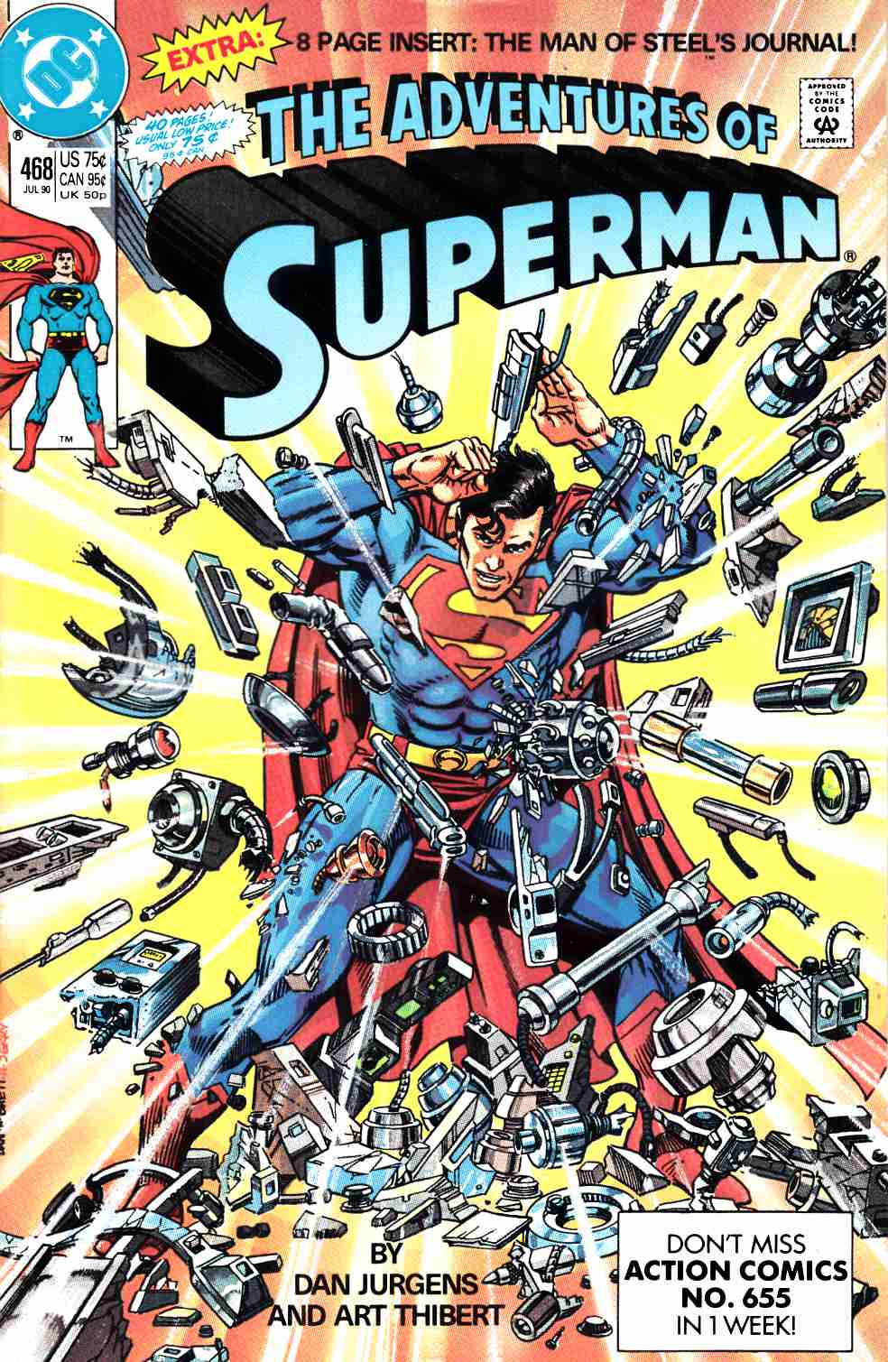 Adventures of Superman #468 Fine (6.0) [DC Comic] THUMBNAIL