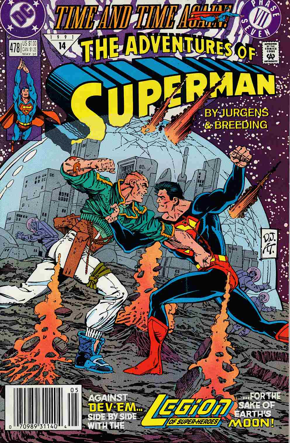 Adventures of Superman #478 Newsstand Edition Very Fine (8.0) [DC Comic] LARGE