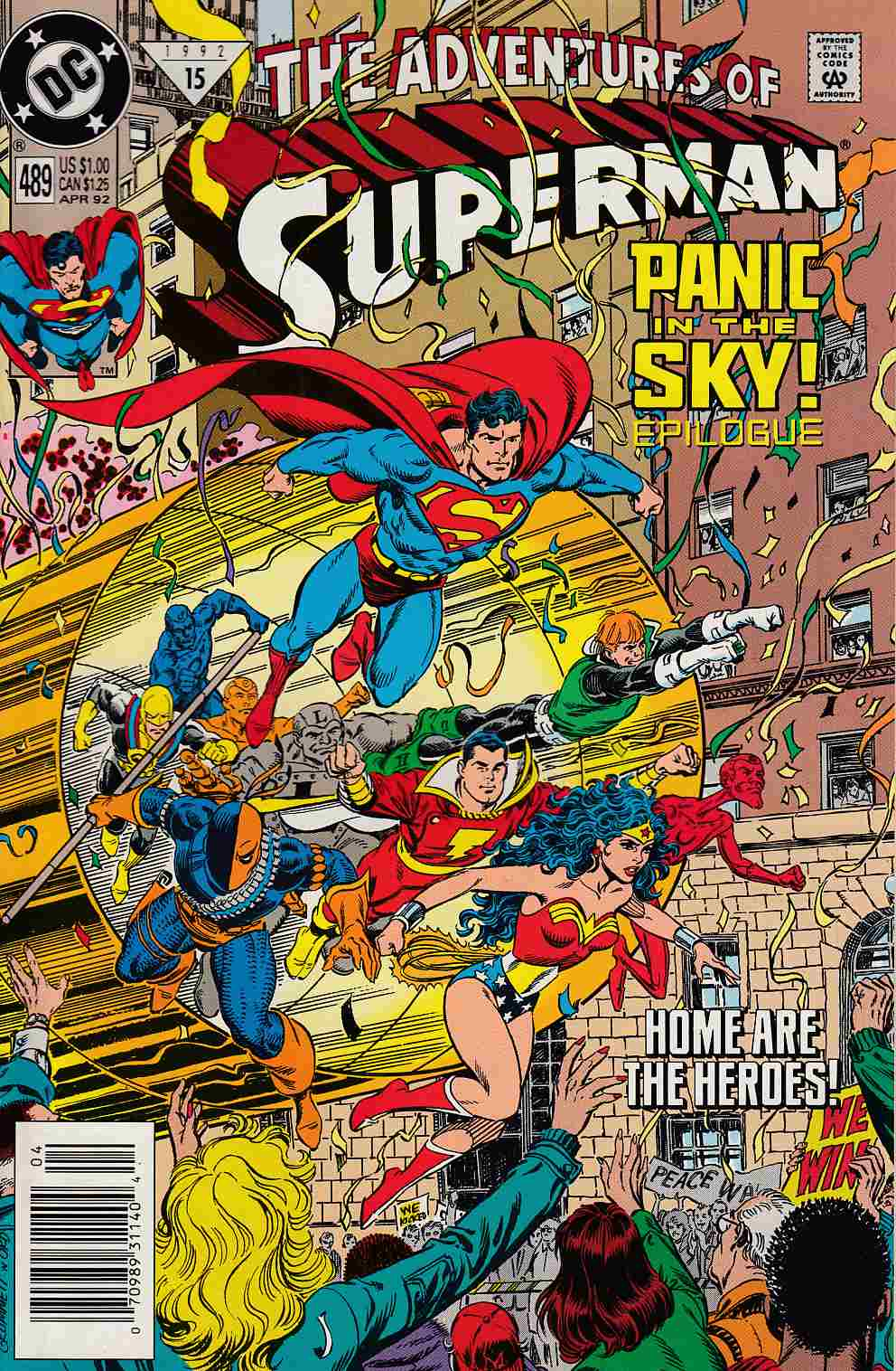Adventures of Superman #489 Newsstand Edition Very Fine (8.0) [DC Comic] LARGE