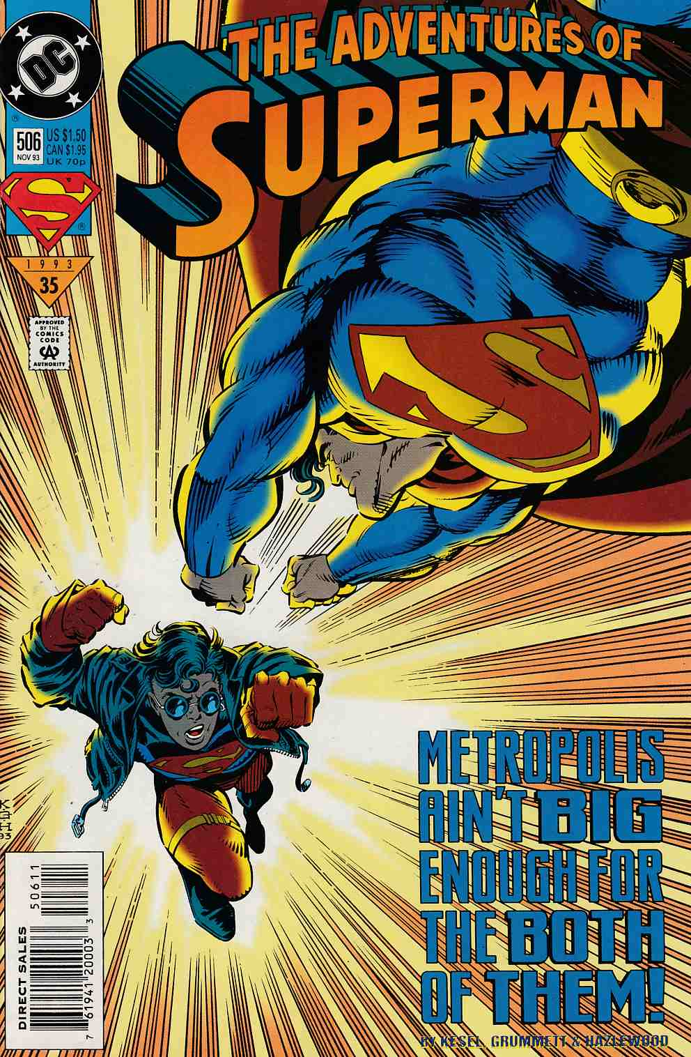 Adventures of Superman #506 Near Mint (9.4) [DC Comic] LARGE