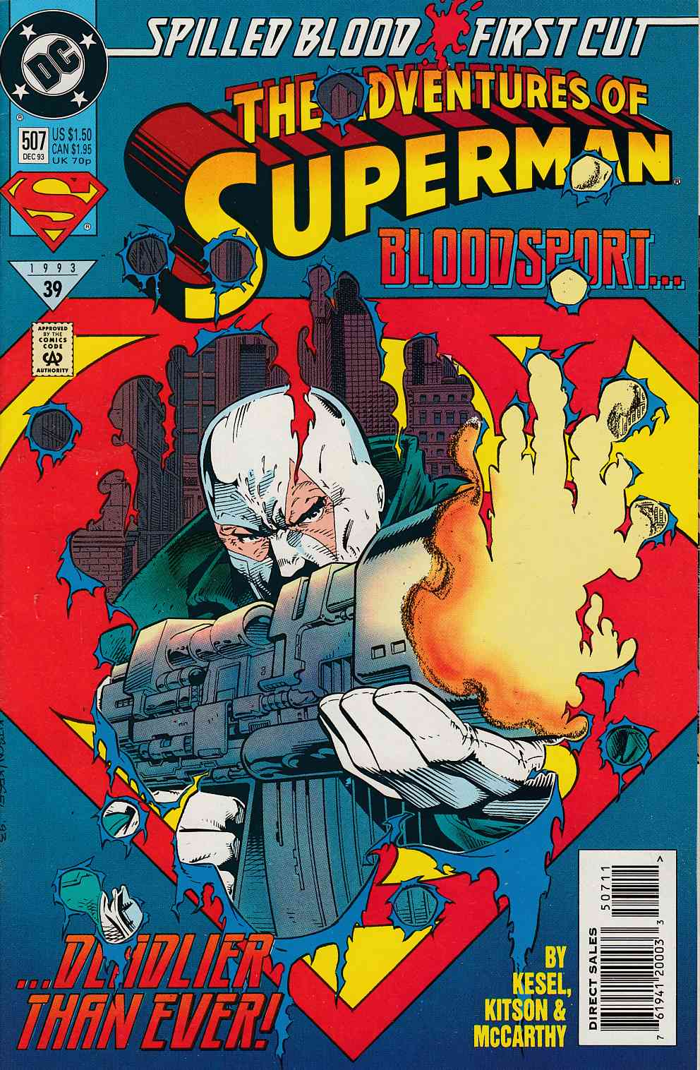 Adventures of Superman #507 Near Mint Minus (9.2) [DC Comic] LARGE