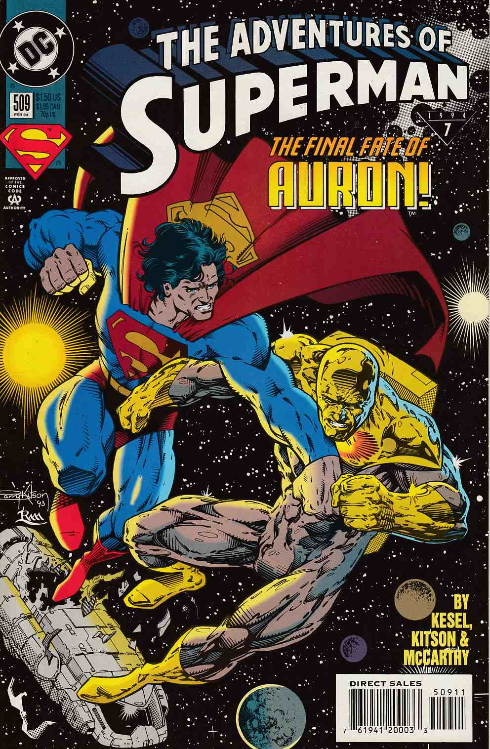 Adventures of Superman #509 Near Mint (9.4) [DC Comic] LARGE
