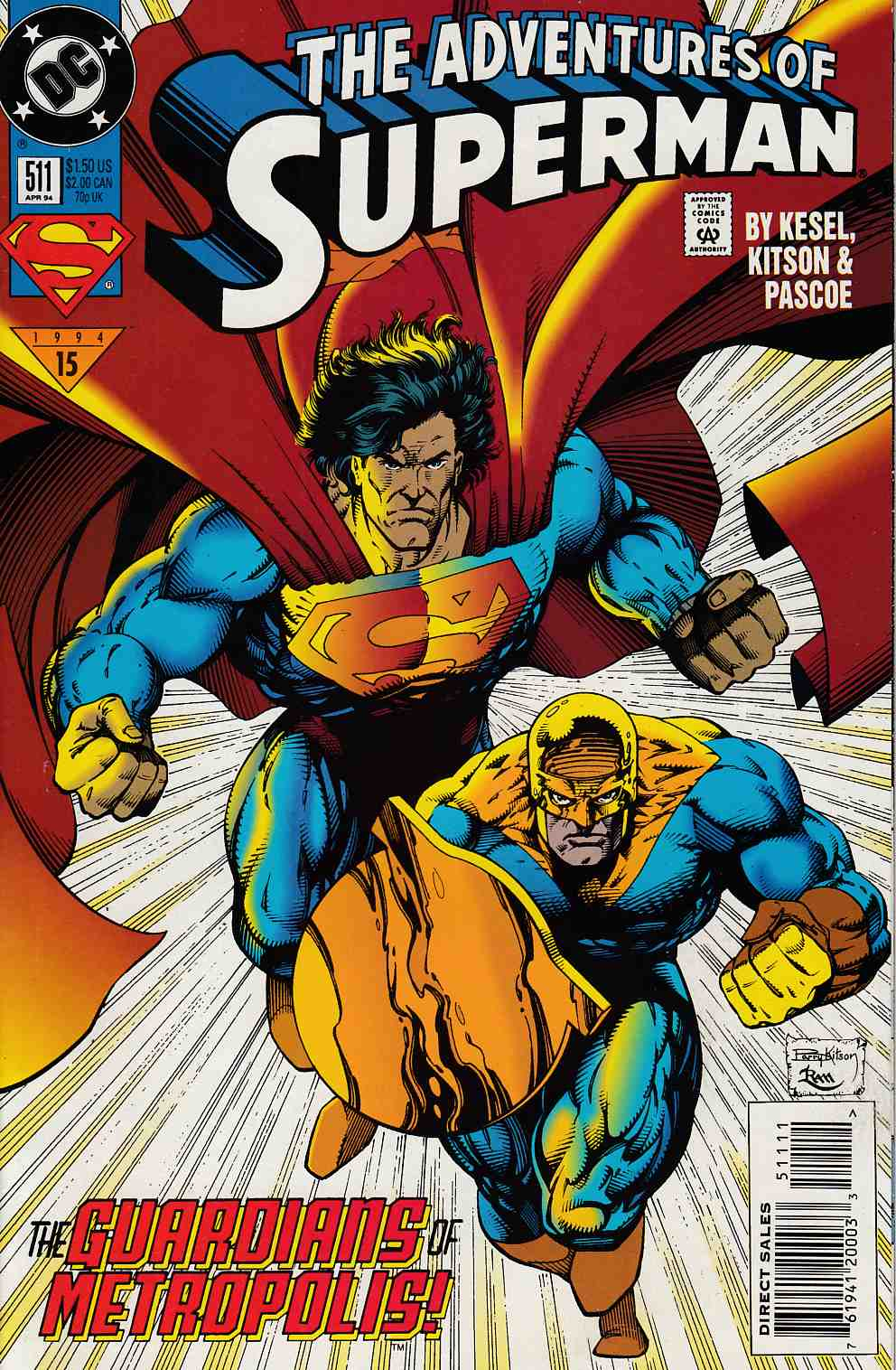 Adventures of Superman #511 Very Fine (8.0) [DC Comic] LARGE