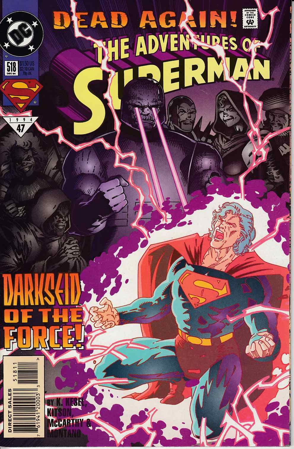 Adventures of Superman #518 Near Mint (9.4) [DC Comic] LARGE