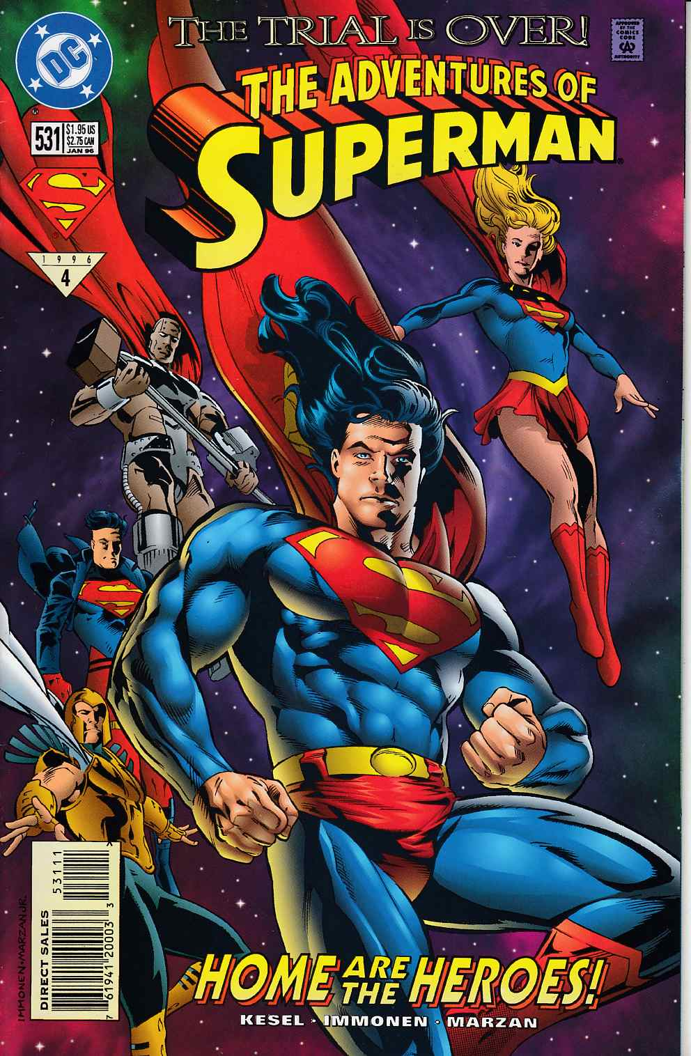 Adventures of Superman #531 Very Fine MInus (7.5) [DC Comic] LARGE