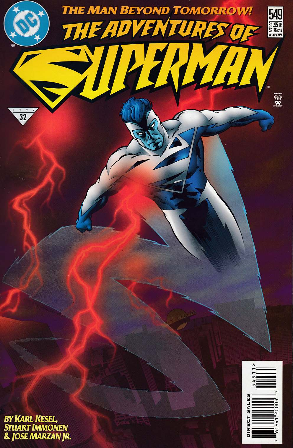 Adventures of Superman #549 Very Fine (8.0) [DC Comic] LARGE