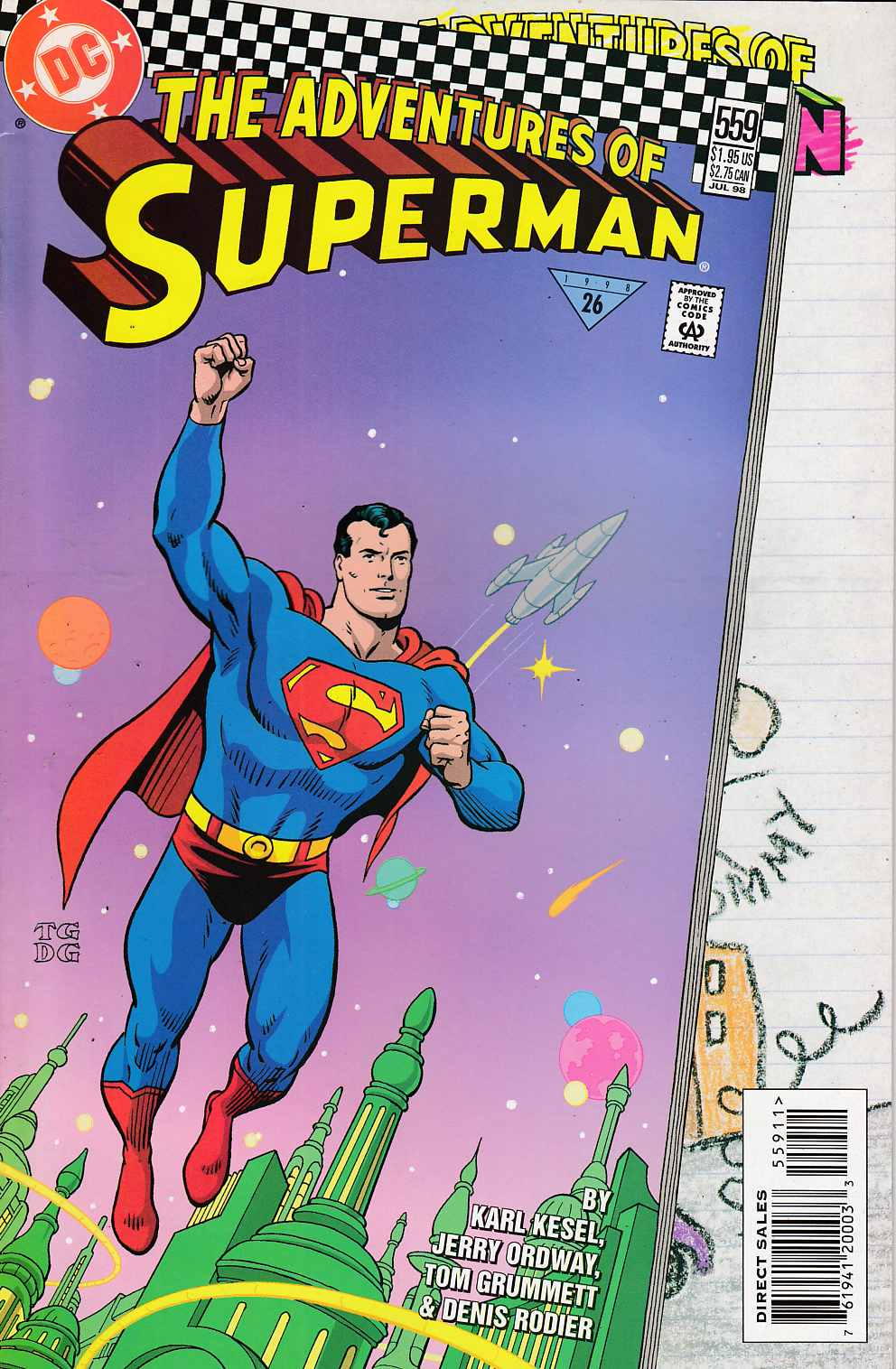 Adventures of Superman #559 Very Fine (8.0) [DC Comic] LARGE