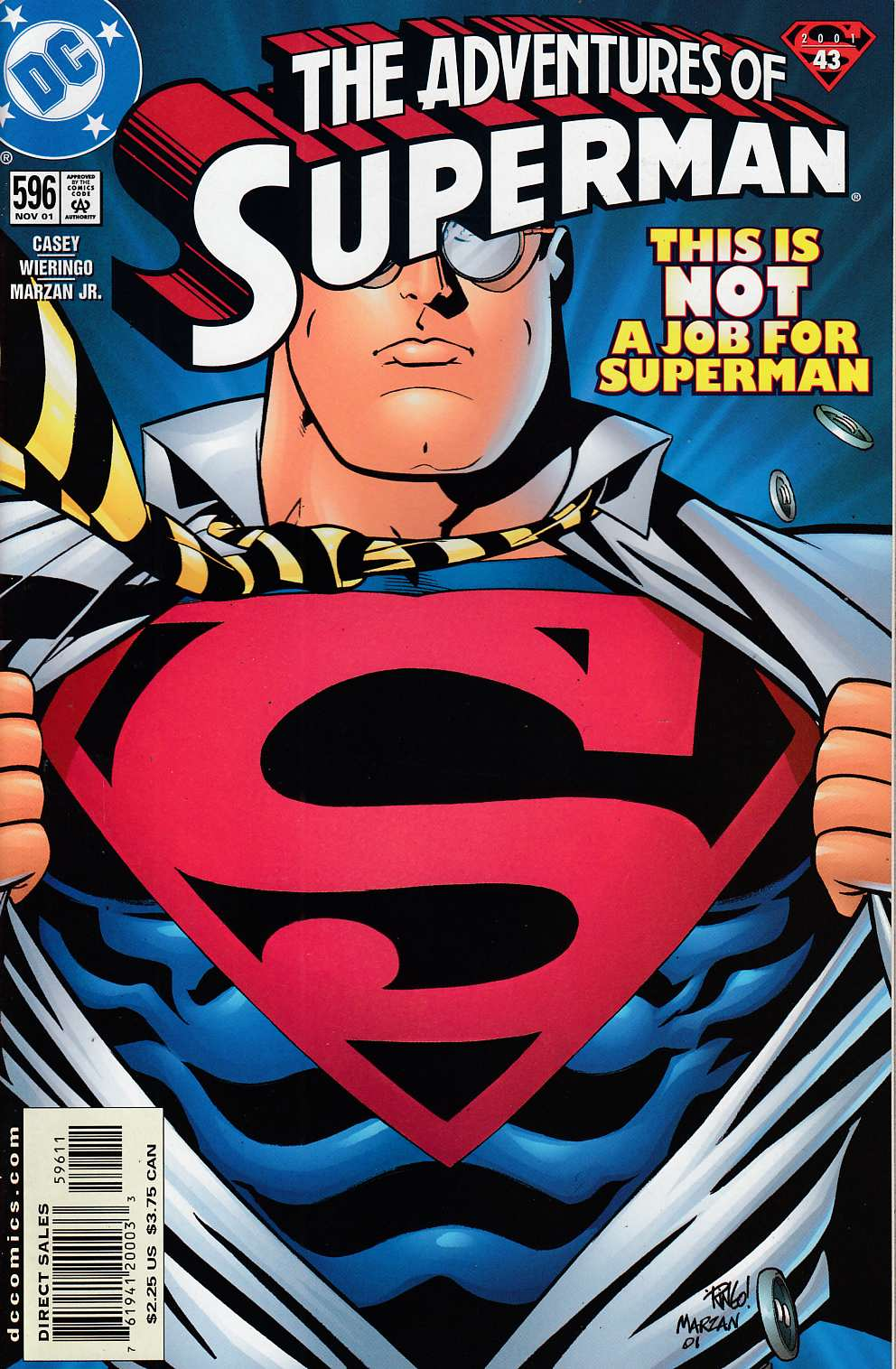 Adventures of Superman #596 Near Mint (9.4) [DC Comic] LARGE