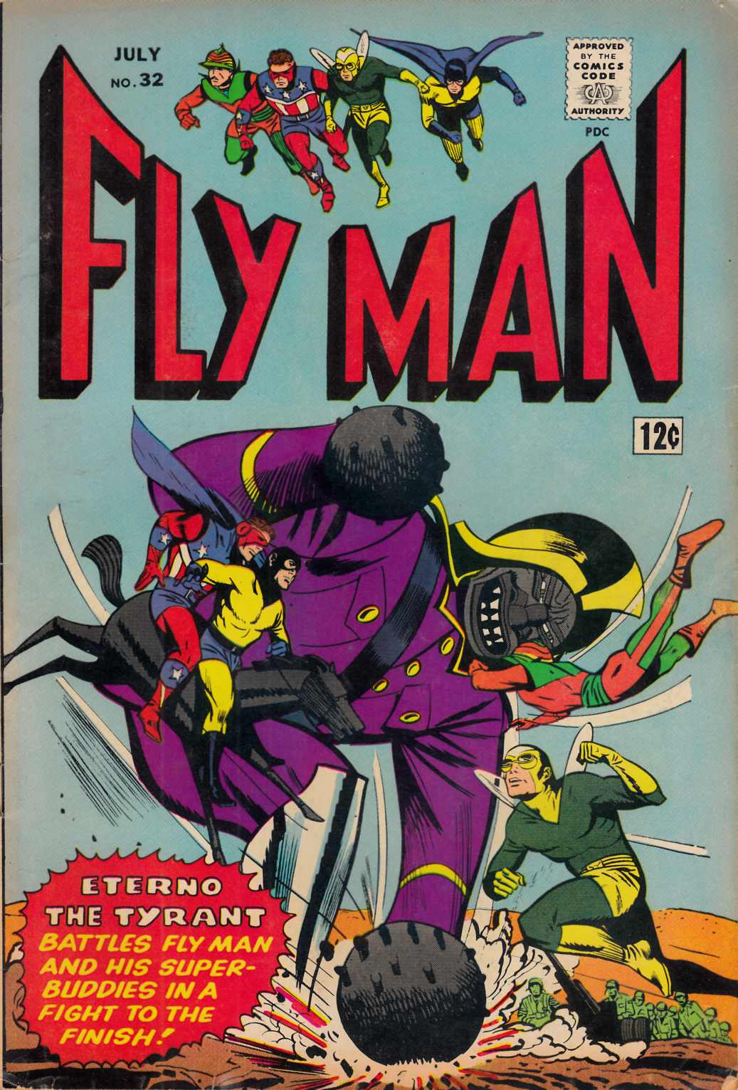 Adventures of the Fly #32 Fine Minus (5.5) [Archie Comic] LARGE