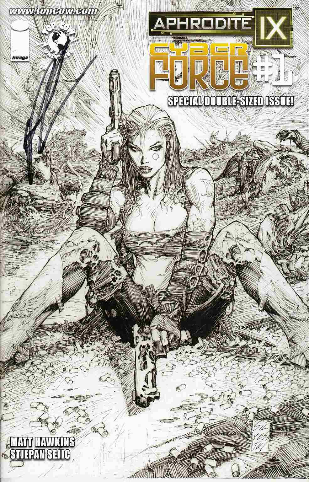 Aphrodite IX Cyber Force #1 Cover E- Hawkins Signed Incentive [Comic] THUMBNAIL