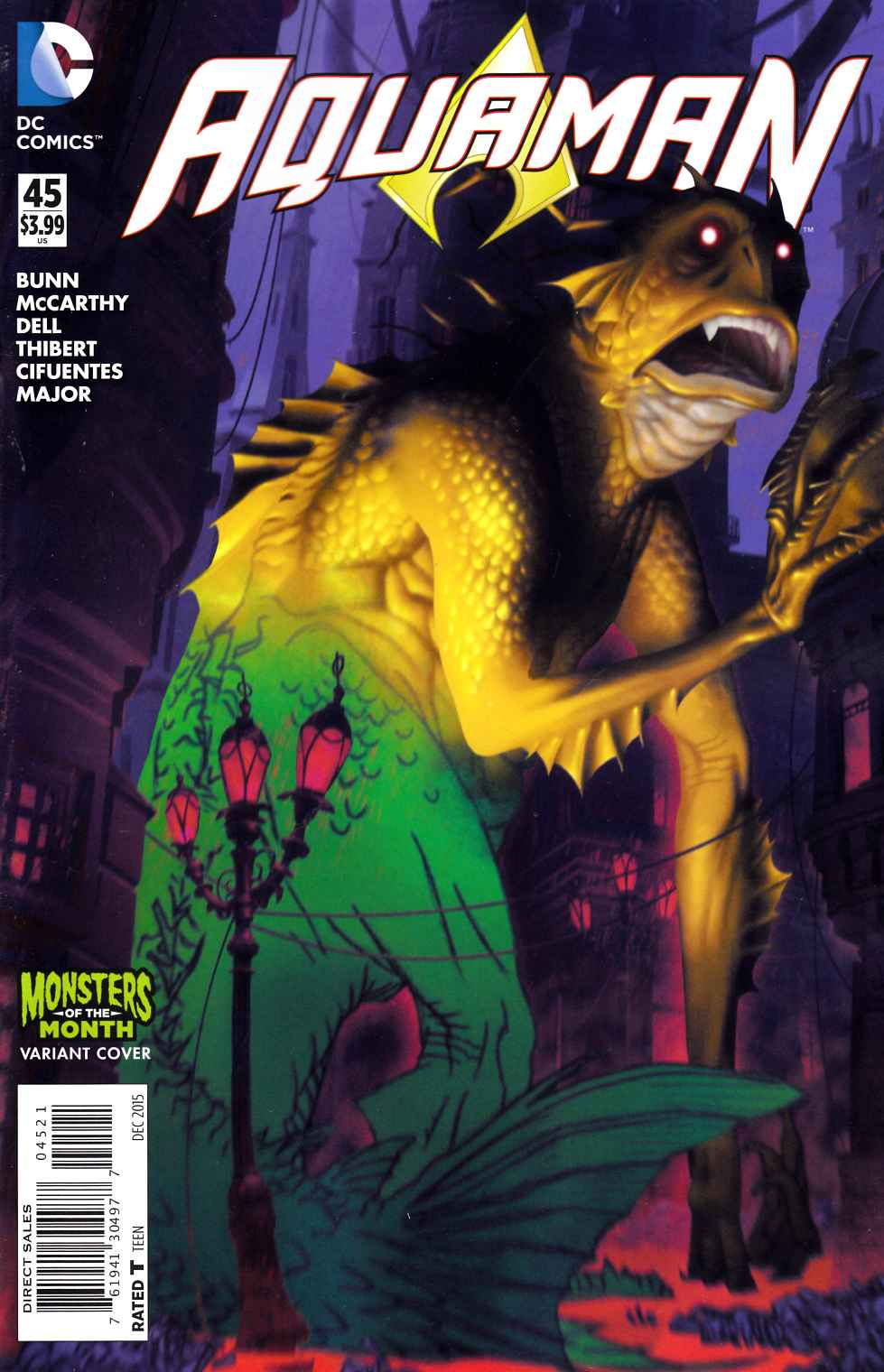 Aquaman #45 Monsters Variant Cover [DC Comic] THUMBNAIL