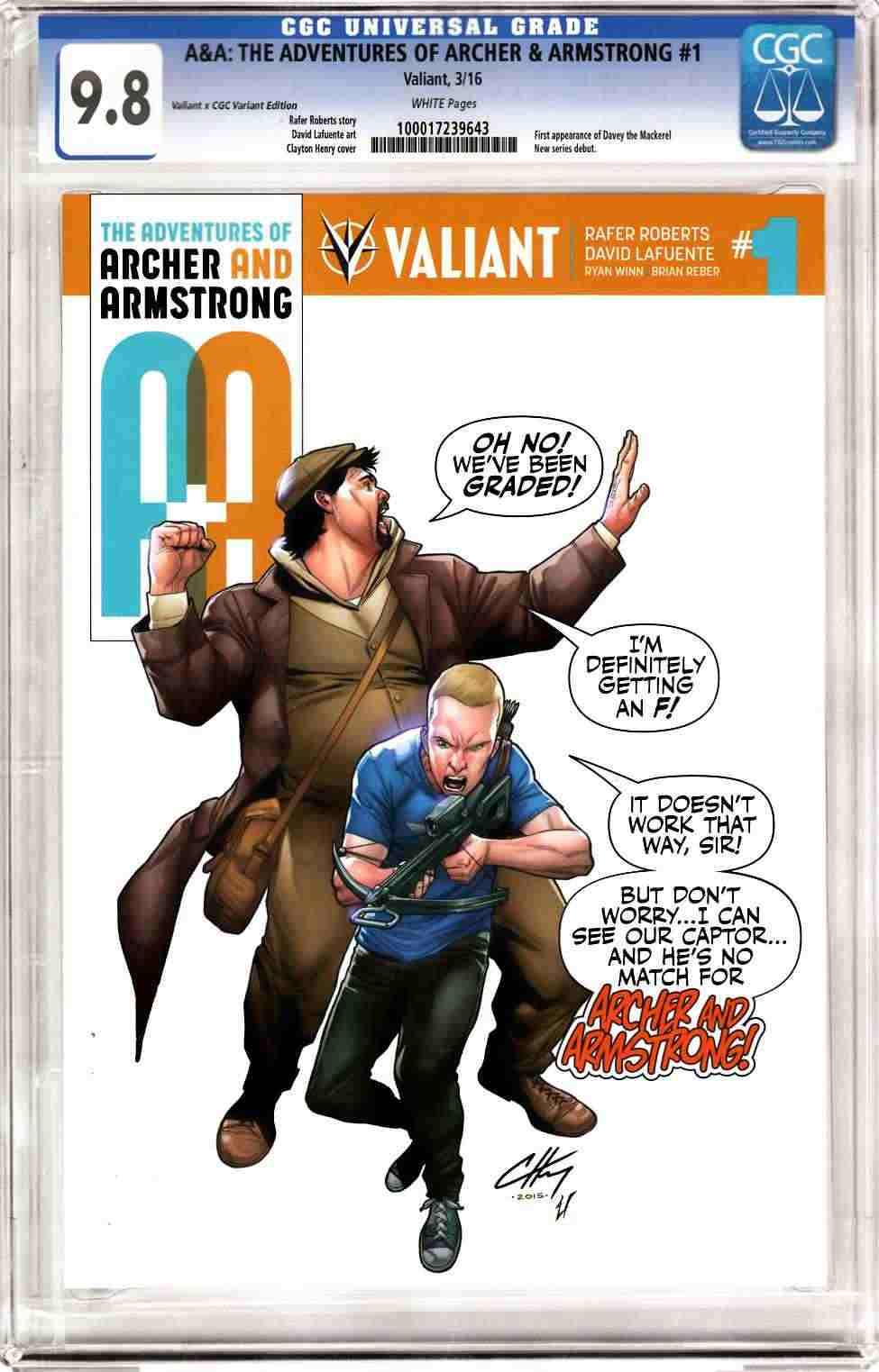 Archer & Armstrong #1 Cover D- CGC Replica Henry [Valiant Comic] THUMBNAIL