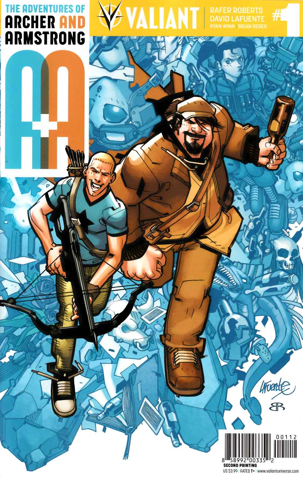 Archer & Armstrong #1 Second Printing [Valiant Comic] THUMBNAIL