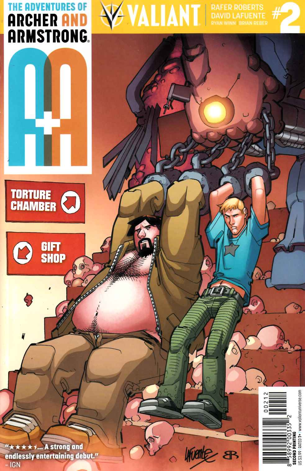 Archer & Armstrong #2 Second Printing [Valiant Comic] LARGE