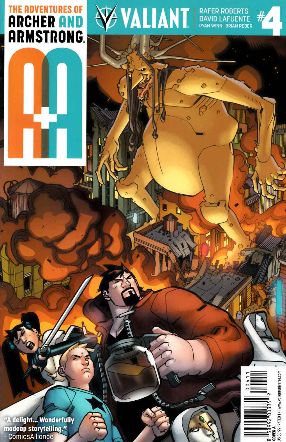 Archer & Armstrong #4 Cover A [Valiant Comic] THUMBNAIL