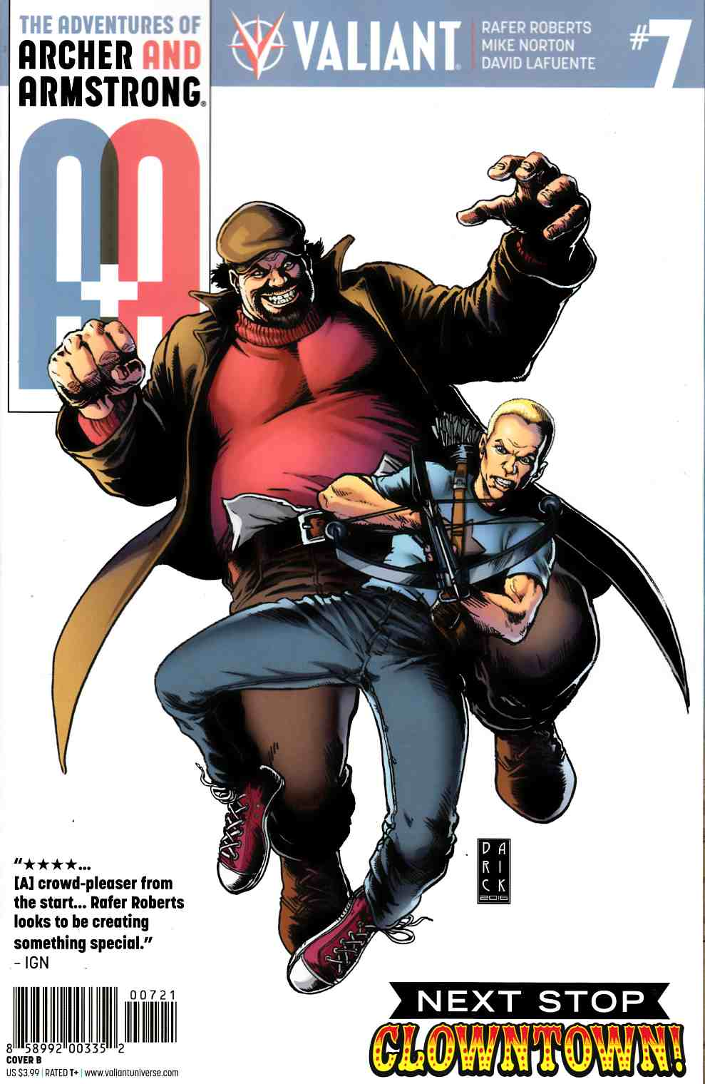 Archer & Armstrong #7 Cover B- Robertson [Valiant Comic] LARGE