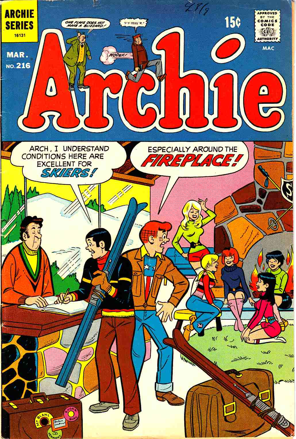 Archie #216 [Archie Comic] LARGE