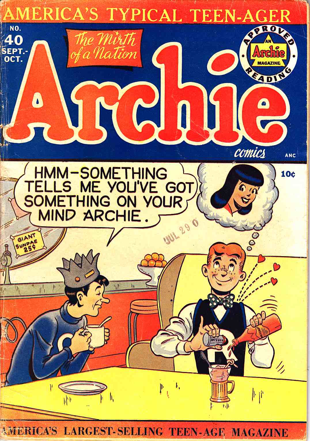 Archie #40 Very Good (4.0) [Archie Comic] THUMBNAIL