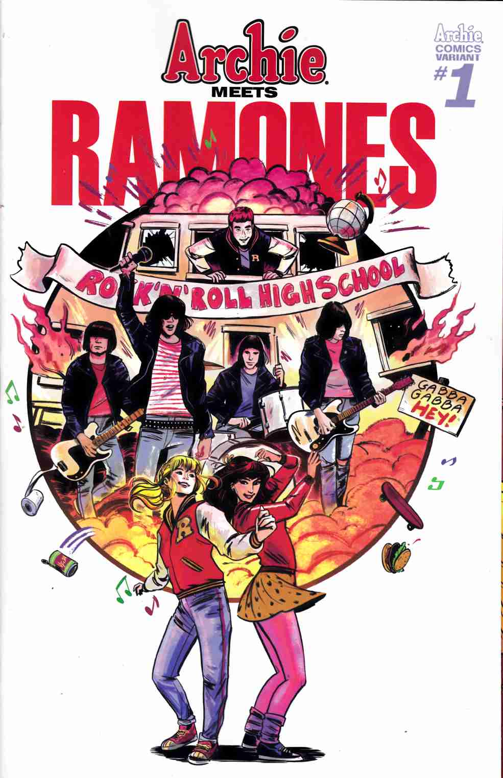 Archie Meets Ramones (One Shot) Cover B [Archie Comic] THUMBNAIL