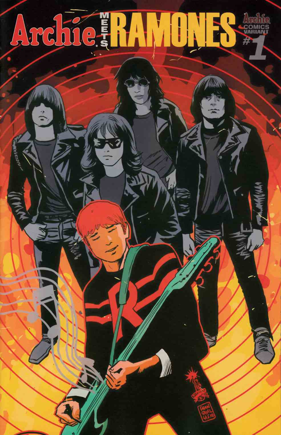 Archie Meets Ramones (One Shot) Cover C [Archie Comic]