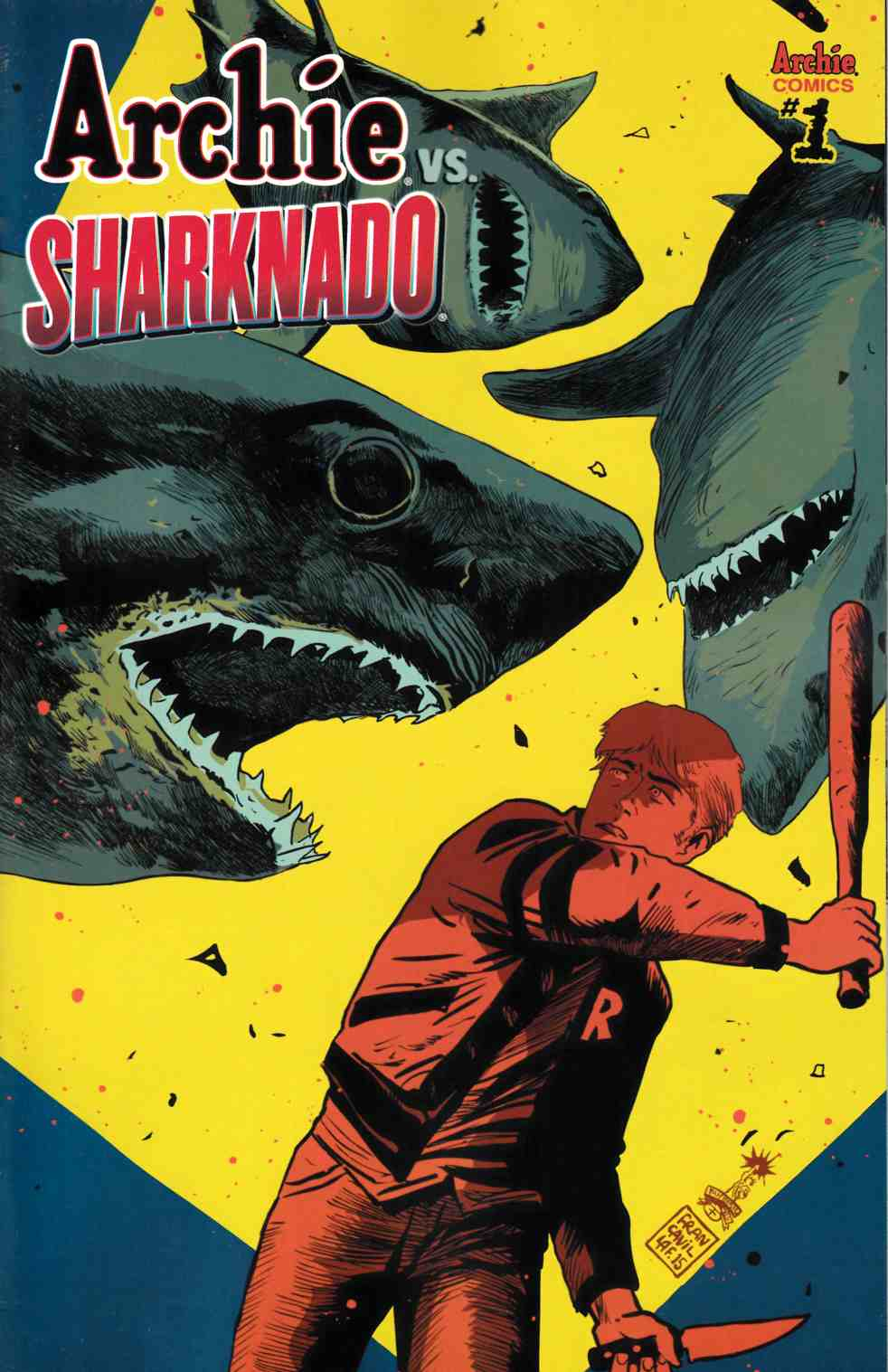 Archie vs Sharknado (One Shot) Francavilla Variant Cover [Archie Comic]