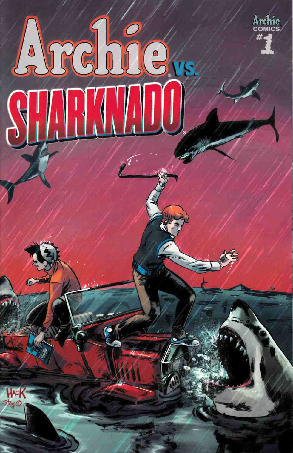Archie vs Sharknado (One Shot) Hack Variant Cover [Archie Comic]