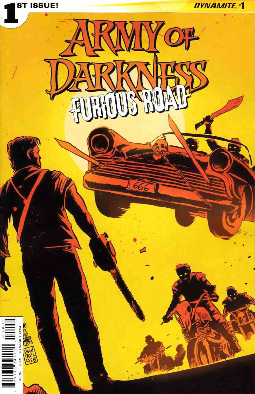 Army of Darkness Furious Road #1 Cover C- Francavilla [Dynamite Comic]