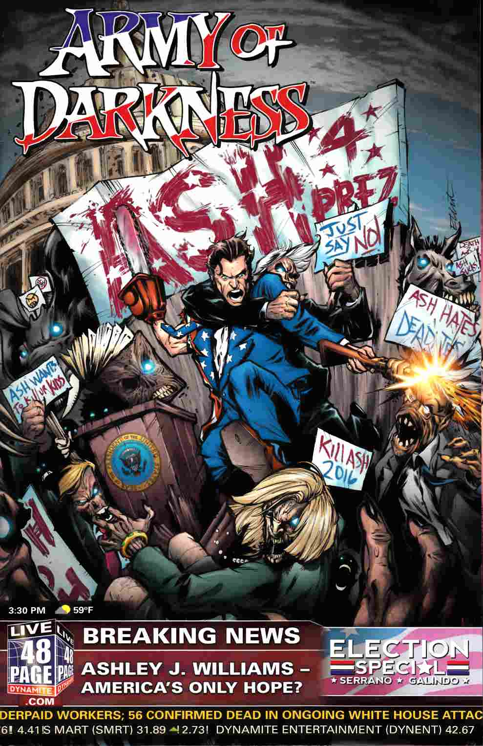 Army of Darkness Ash For President (One Shot) [Dynamite Comic] THUMBNAIL
