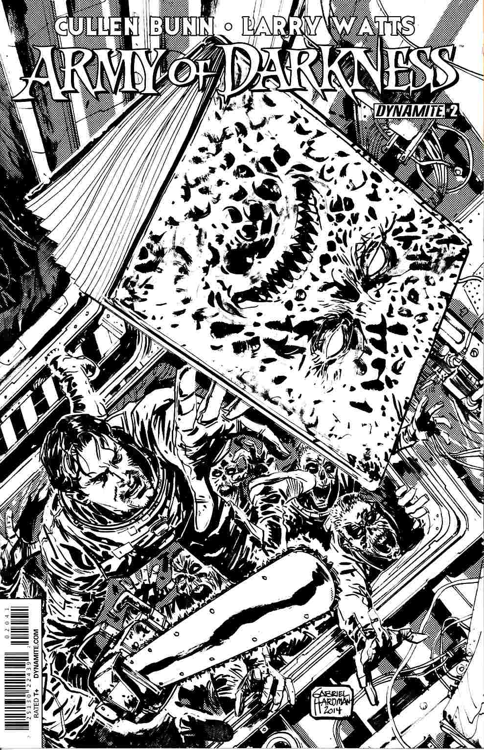 Army of Darkness Vol 4 #2 Cover D- Hardman B&W Incentive [Dynamite Comic] THUMBNAIL