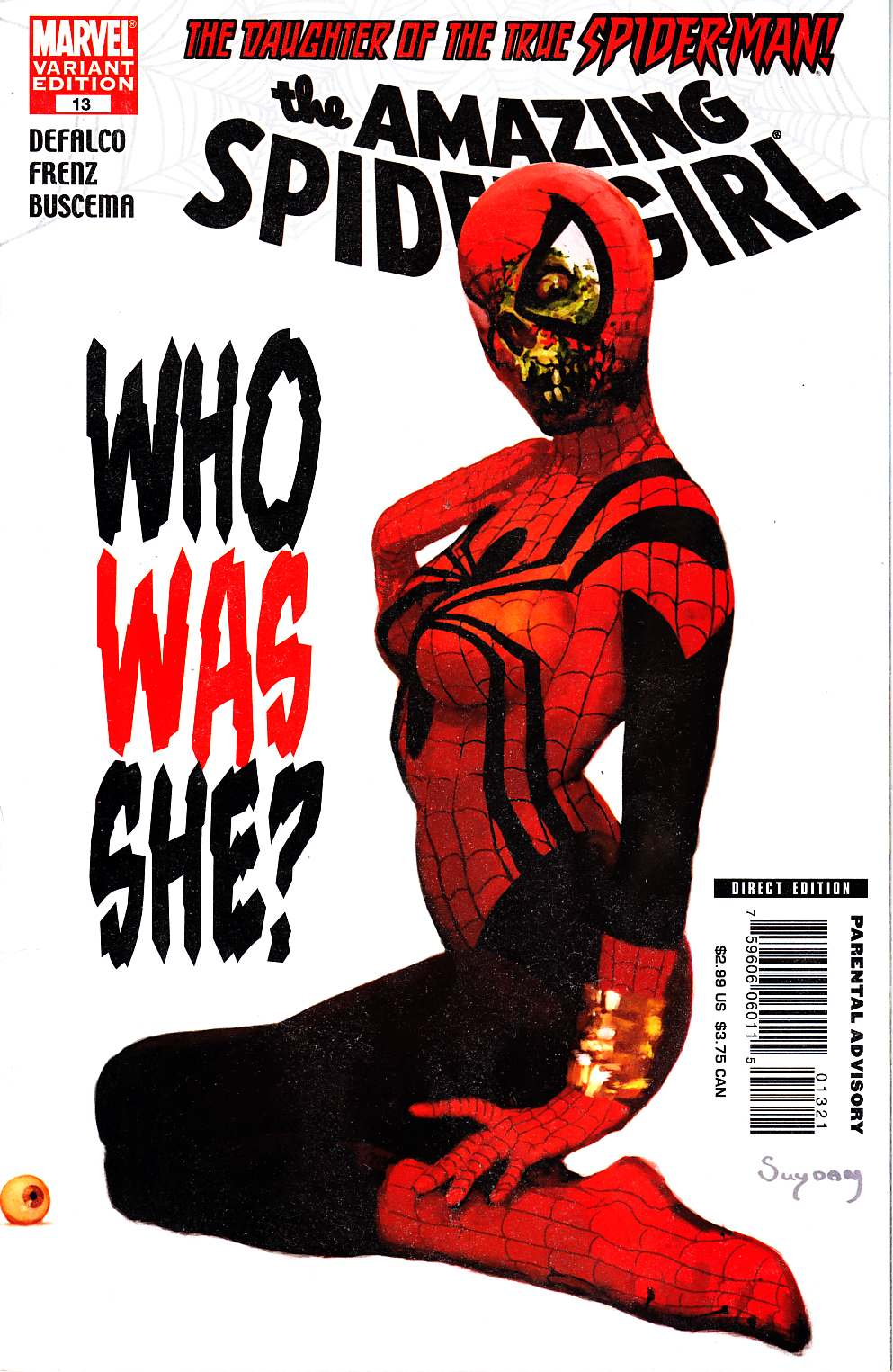 Amazing Spider-Girl #13 Zombie Variant Cover [Marvel Comic]