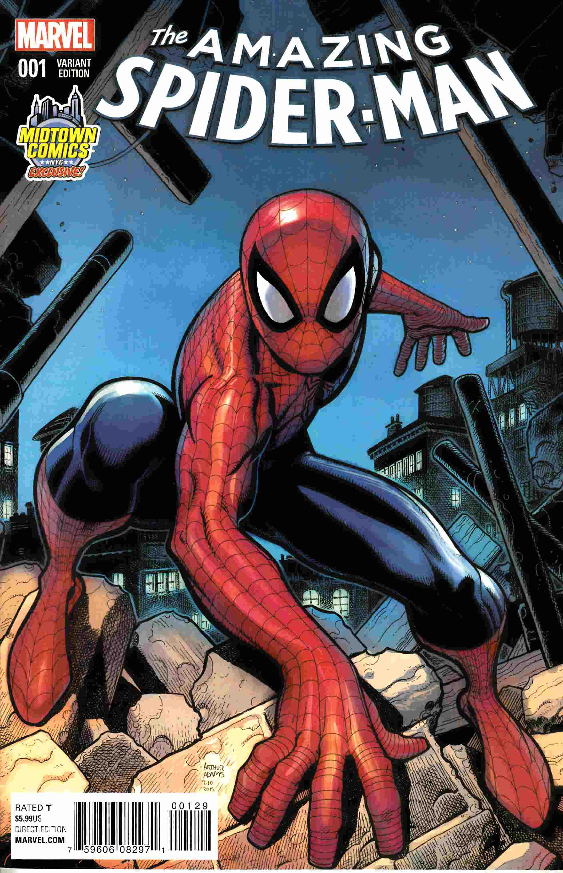 Amazing Spider-Man #1 Midtown Exclusive Variant Cover Near Mint (9.4) [Marvel Comic] THUMBNAIL