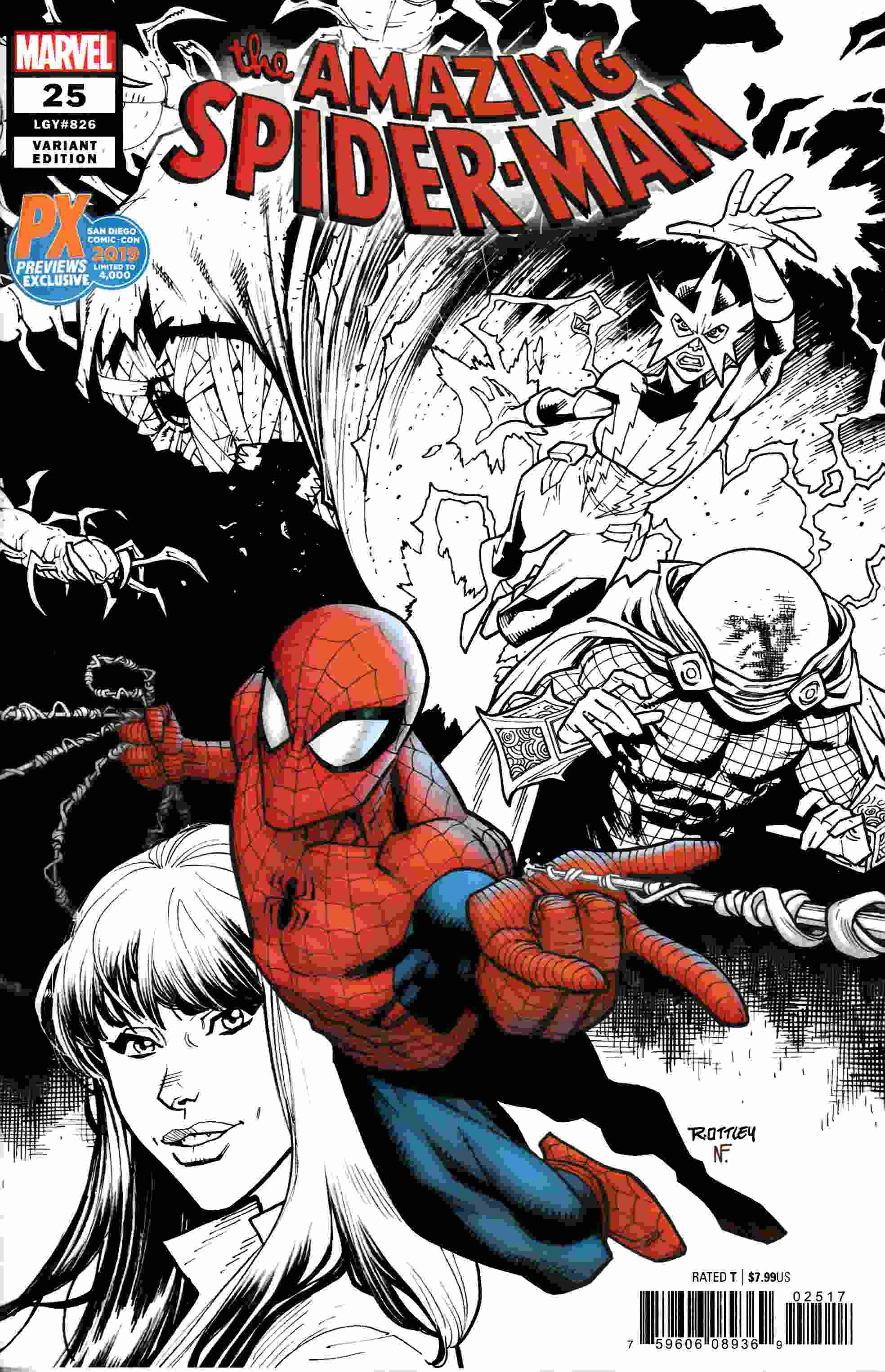 Amazing Spider-Man #25 SDCC PX Variant Cover Near Mint (9.4) [Marvel Comic] THUMBNAIL