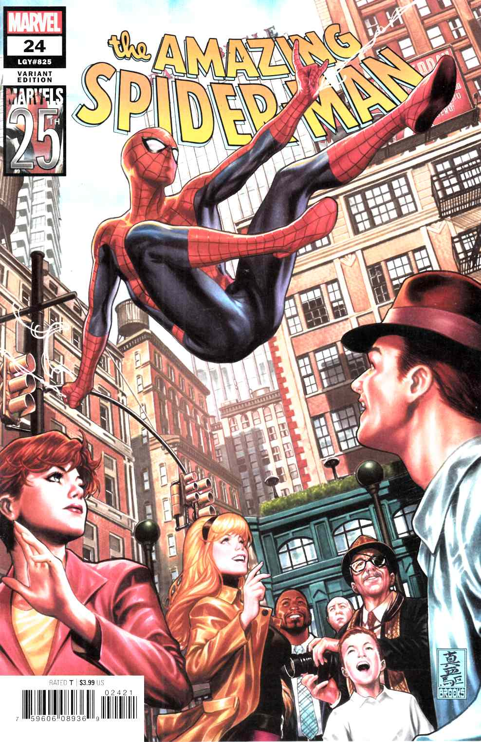 Amazing Spider-Man #24 Brooks Variant Cover Near Mint (9.4) [Marvel Comic] THUMBNAIL