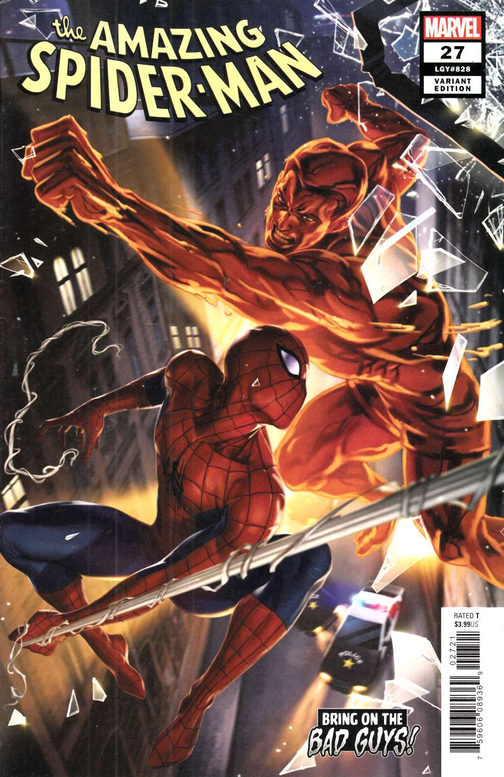 Amazing Spider-Man #27 Lee Bad Guys Variant Cover Near Mint (9.4) [Marvel Comic] THUMBNAIL