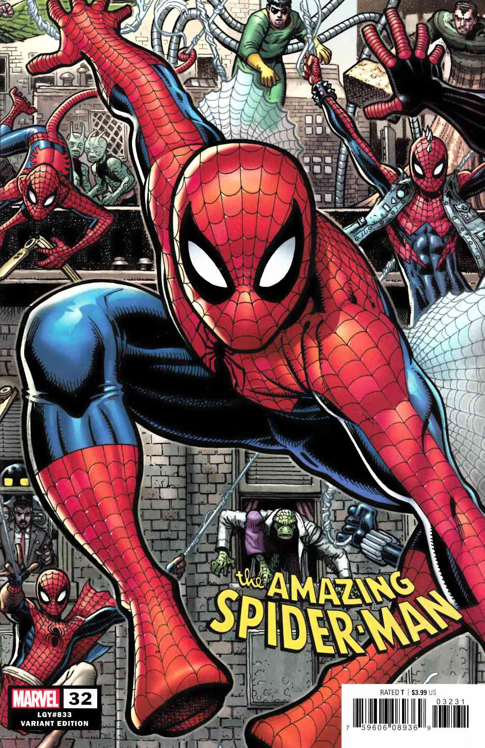 Amazing Spider-Man #32 Adams Variant Cover Near Mint (9.4) [Marvel Comic] THUMBNAIL