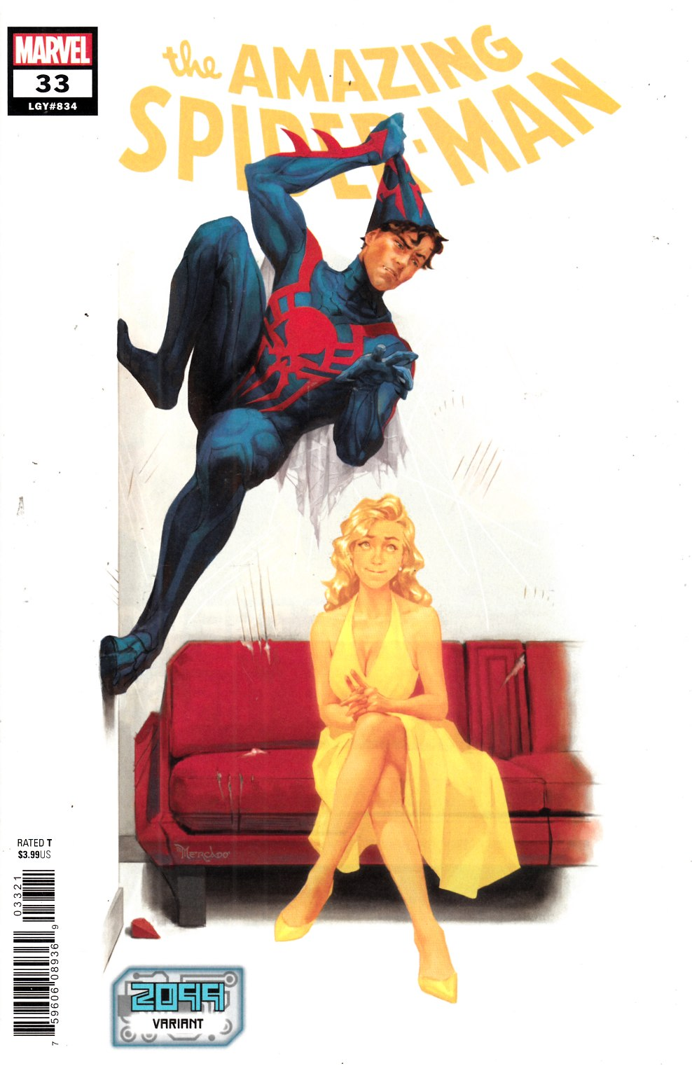 Amazing Spider-Man #33 Mercado 2099 Variant Cover Near Mint (9.4) [Marvel Comic] THUMBNAIL