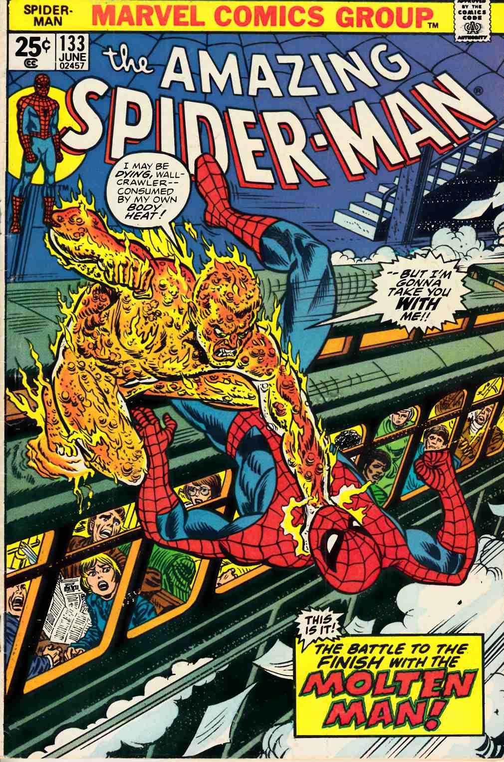 Amazing Spider-Man #133 Fine Minus (5.5) [Marvel Comic] LARGE