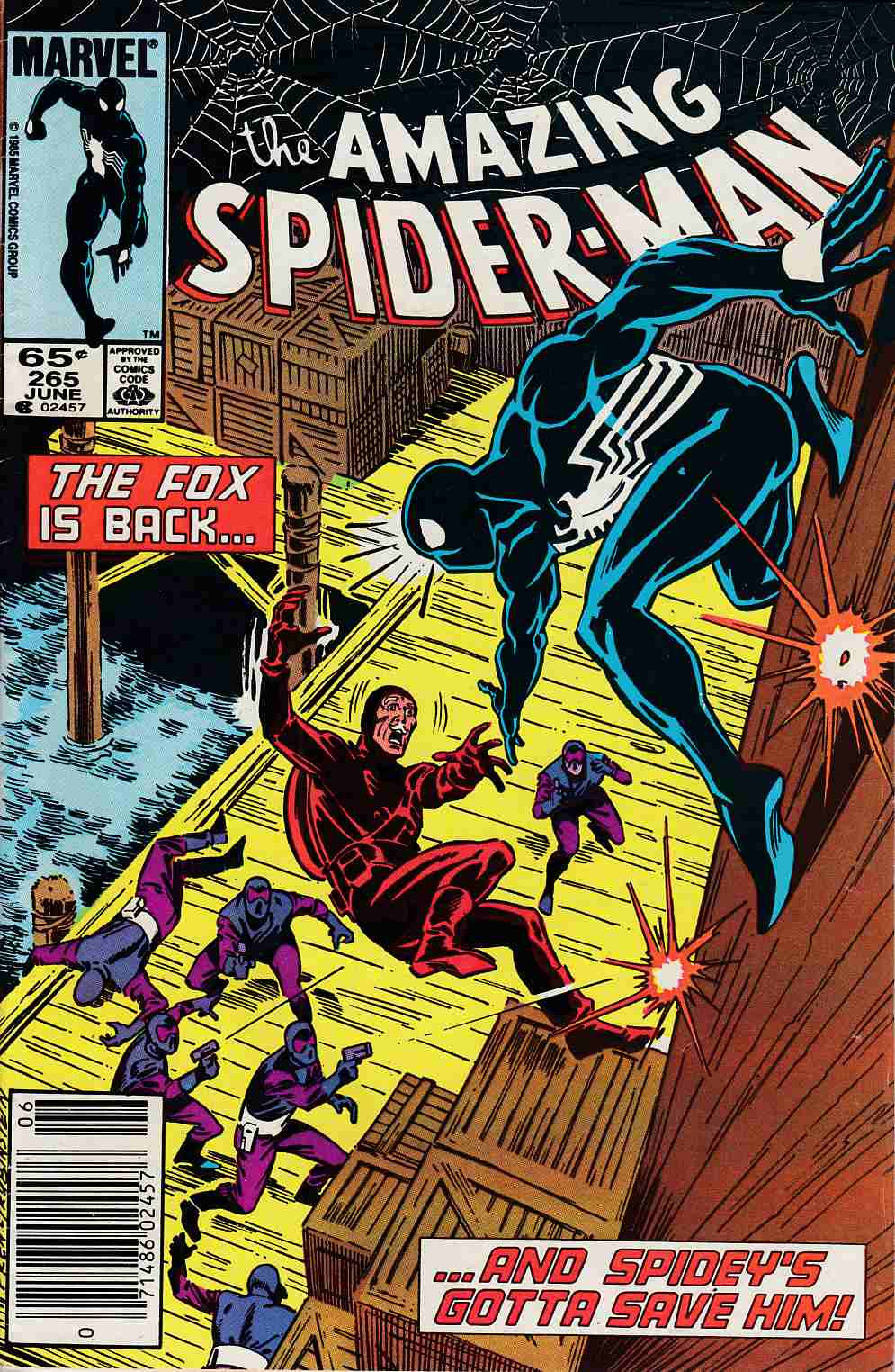 Amazing Spider-Man #265 Newsstand Edition Fine Minus (5.5) [Marvel Comic] LARGE