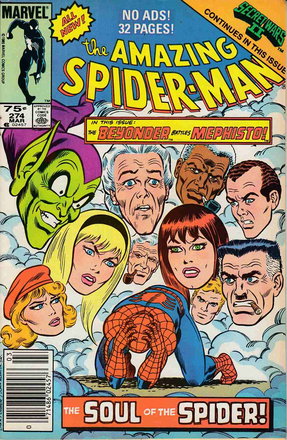 Amazing Spider-Man #274 Newsstand Edition Very Fine Minus (7.5) [Marvel Comic] LARGE