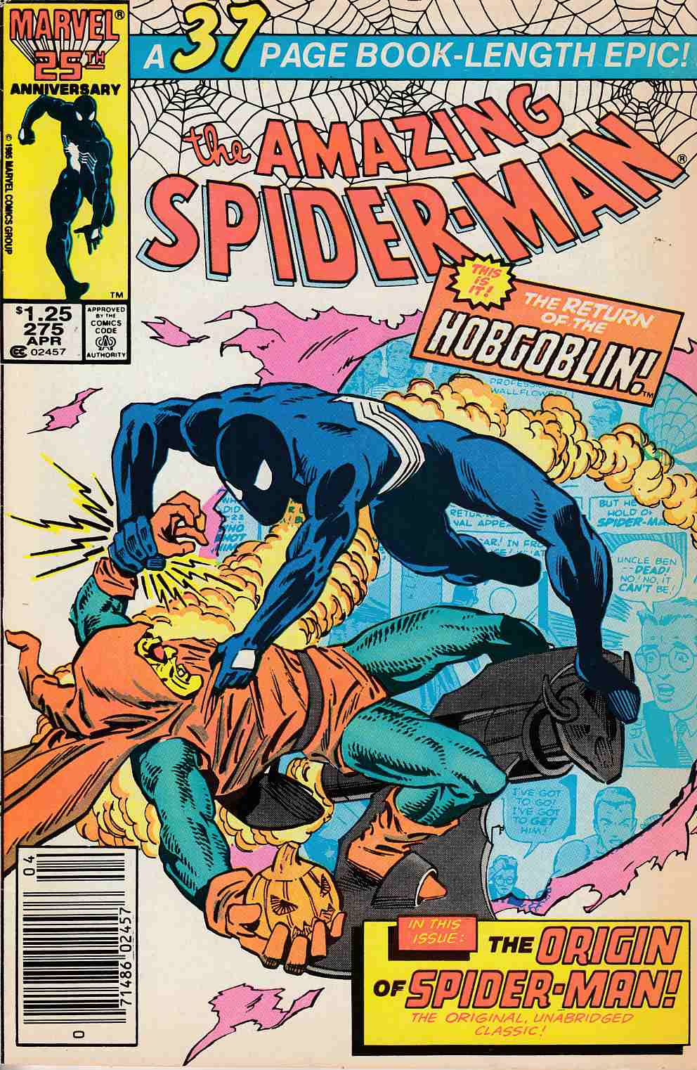Amazing Spider-Man #275 Newsstand Edition Very Fine Minus (7.5) [Marvel Comic] LARGE