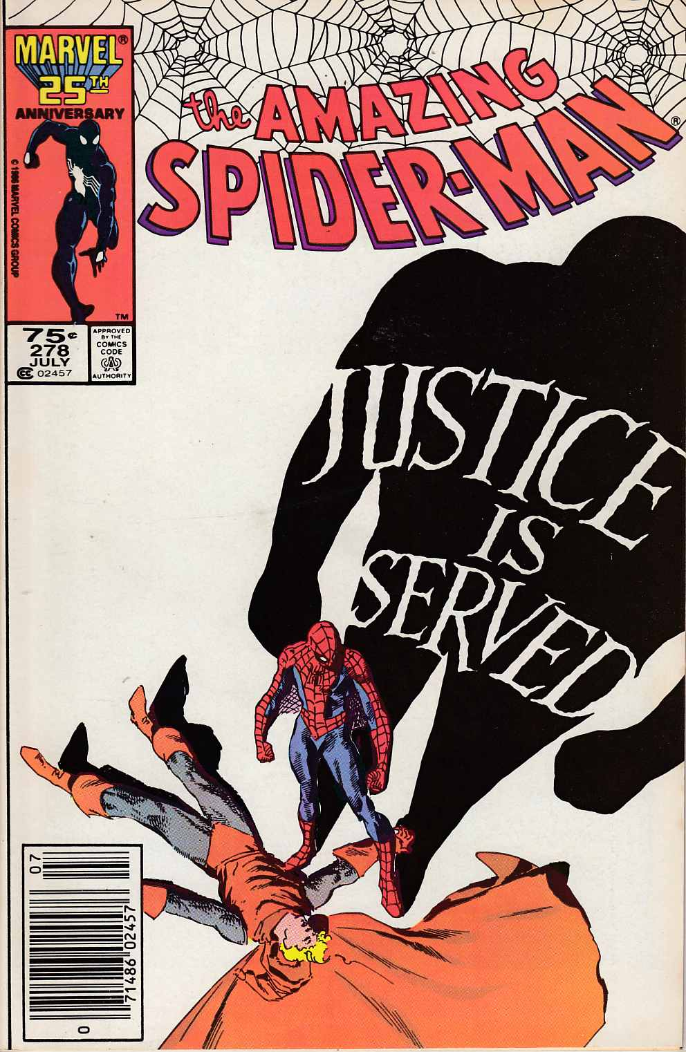 Amazing Spider-Man #278 Newsstand Edition Near Mint Minus (9.2) [Marvel Comic] LARGE