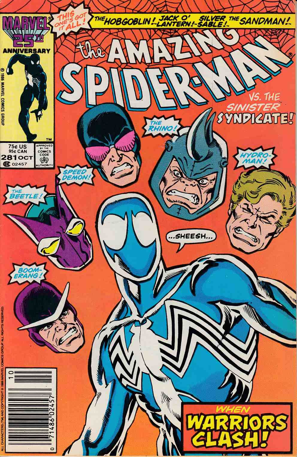 Amazing Spider-Man #281 Newsstand Edition Fine (6.0) [Marvel Comic] LARGE