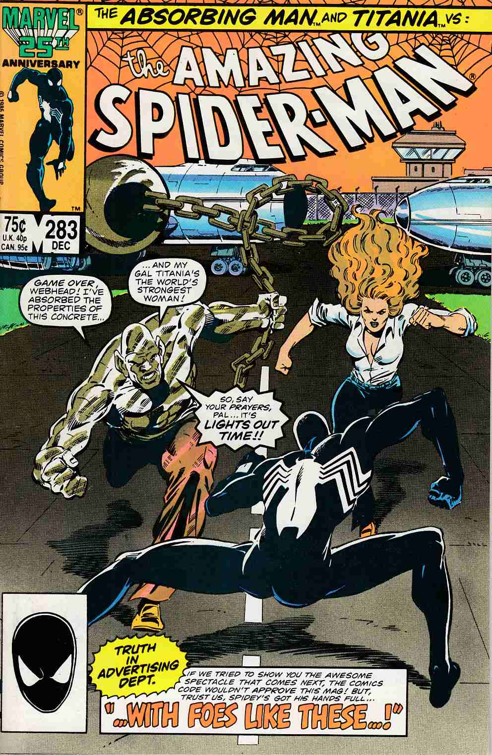 Amazing Spider-Man #283 Very Fine (8.0) [Marvel Comic] LARGE