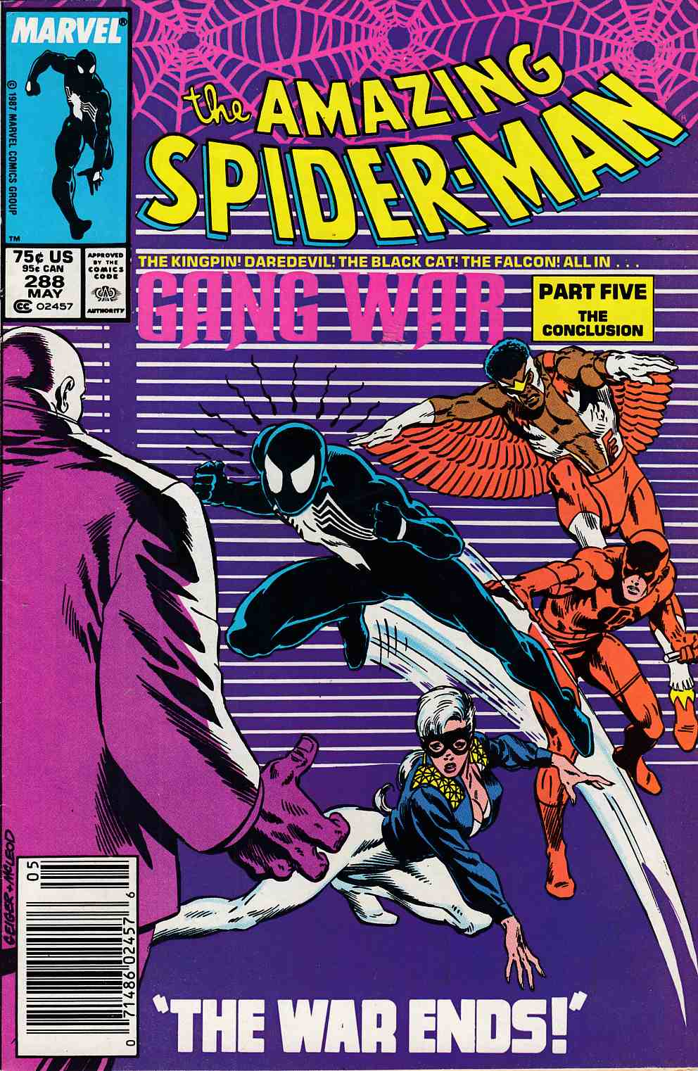 Amazing Spider-Man #288 Newsstand Edition Fine (6.0) [Marvel Comic] LARGE