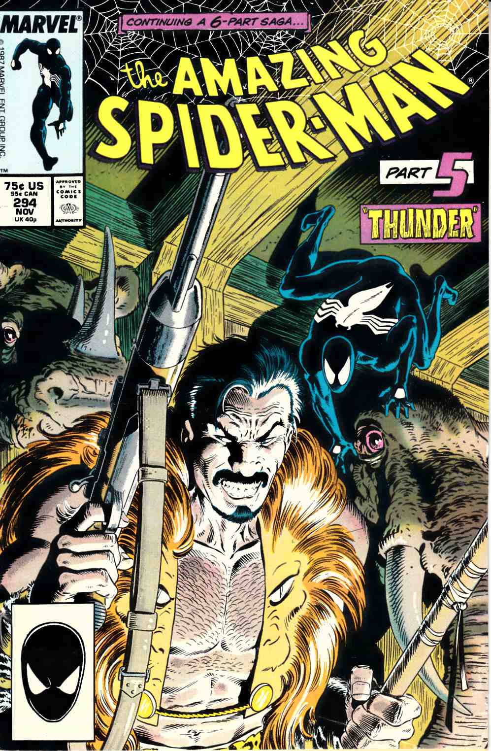 Amazing Spider-Man #294 Fine Plus (6.5) [Marvel Comic] THUMBNAIL