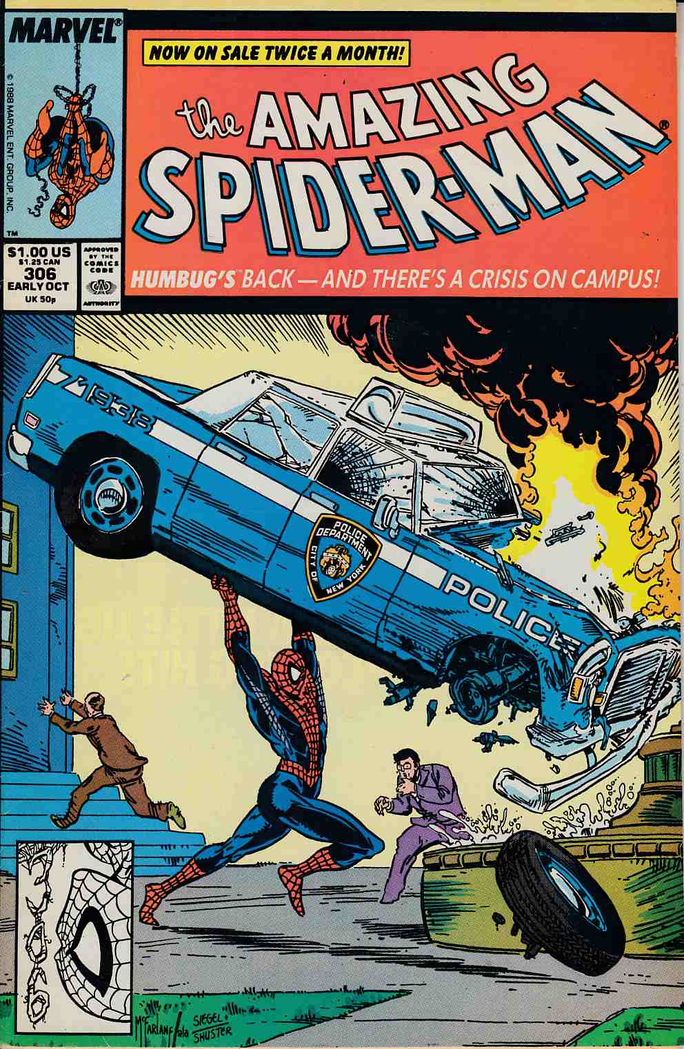 Amazing Spider-Man #306 Fine (6.0) [Marvel Comic] LARGE