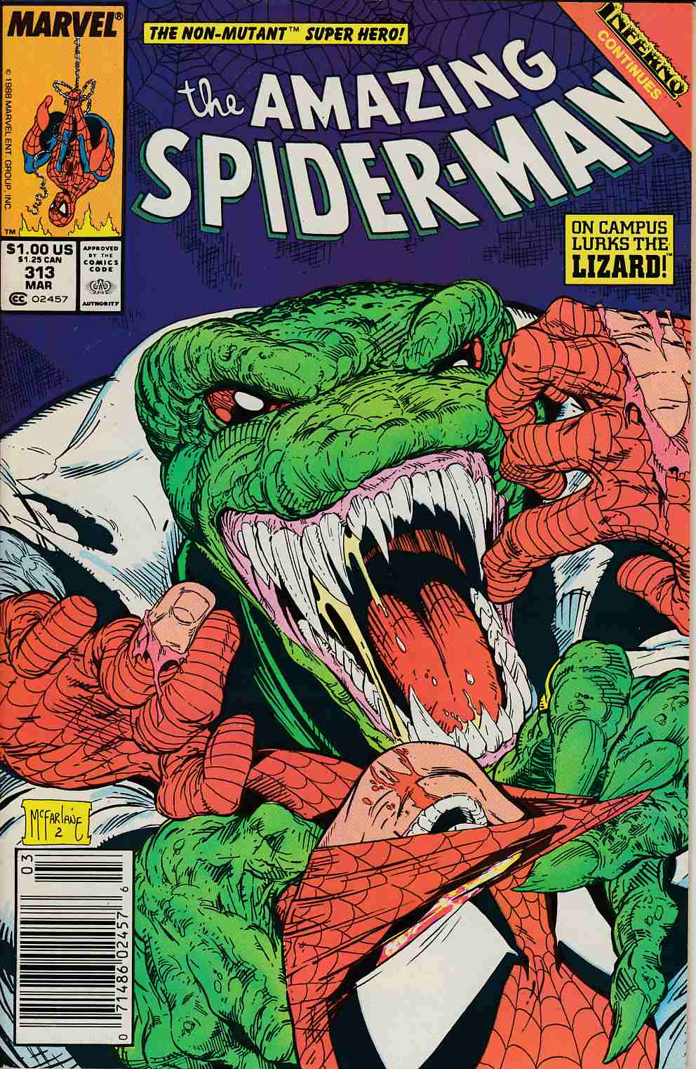 Amazing Spider-Man #313 Newsstand Edition Very Fine (8.0) [Marvel Comic] LARGE